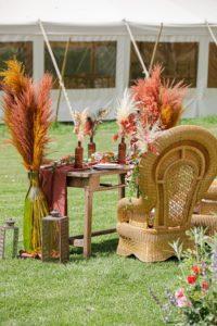 mariage bohème sous chapiteau bambou