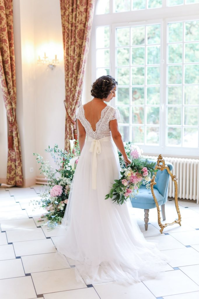 robe de mariée mariage fine art en Seine-et-Marne