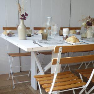 location de table mobilier pour réception dans l'Yonne