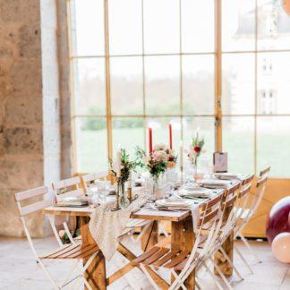 location de tables en bois pour mariage et réception dans l'Yonne en Bourgogne