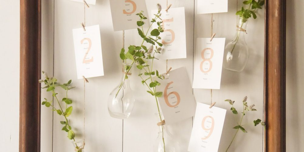 DIY plan de table mariage