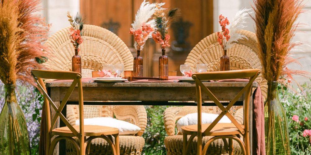 où louer son matériel pour un mariage bohème en Bourgogne
